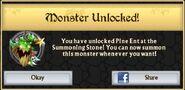 Pine Ent Monster Unlock