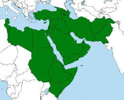 The Squadala Empire shown in green