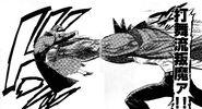 Akira hitting Haruka with Double Hammer