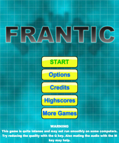 File:Frantic Main Menu Screen.jpg