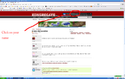 How to stop Kongregate linking to Facebook step 1