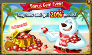 Bonus Gem Event - Cola Bear