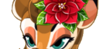 Poinsettia Deer