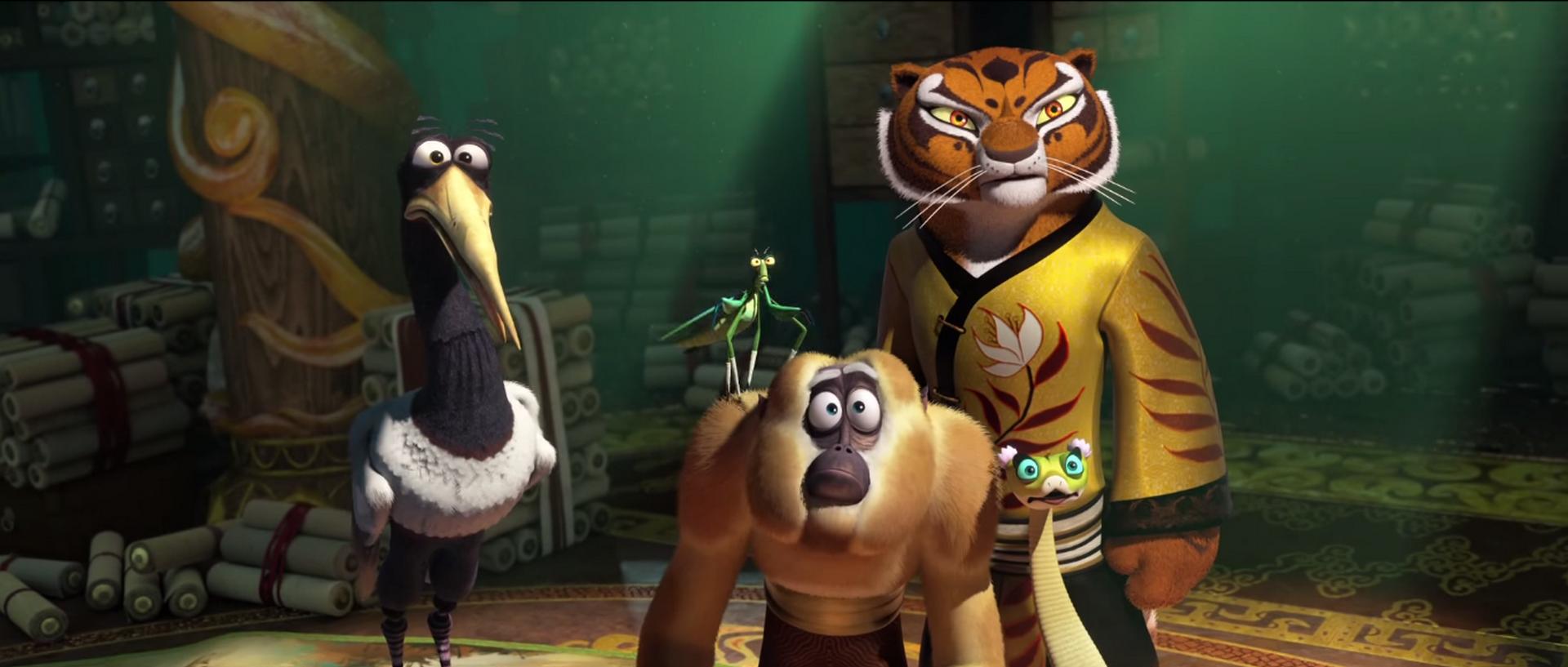kung fu panda legends of awesomeness images Tigress growling gif