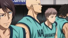 Kazuma lines up for the match