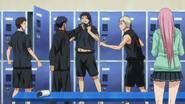 Aomine threatens his teammate