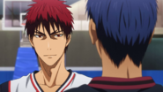 Kagami and Aomine before the match