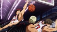 Kagami dunks first point