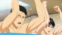 Pool training anime