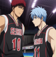 Kuroko and Kagami team up to face Akashi