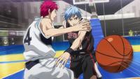 Kuroko steals the ball from Akashi anime
