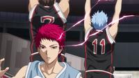 Akashi overwhelms Seirin anime