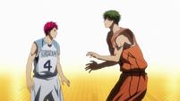 Akashi faces Midorima's new skill anime