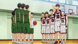 Seirin High vs Tokushin High anime