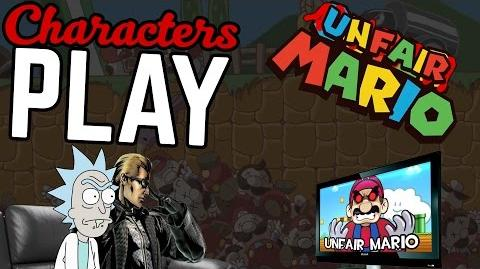 Character's Play Unfair Mario Ft. Rick & Wesker