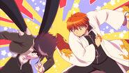 Ep 21 Rinne hitting Masato