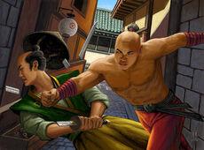 Chikyu is defeated by Karachu