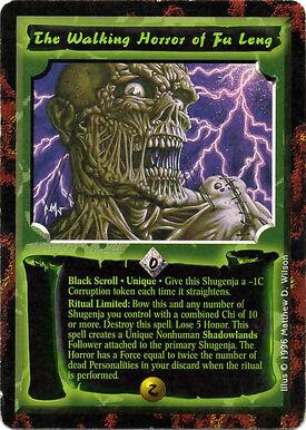 Walking Horror of Fu Leng-card