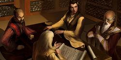 Kurou and Hira at council