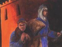 Dawuud escorting Amru
