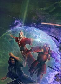 Sezaru shielding Kaneka and Naseru
