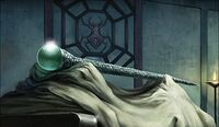 Pearl-Encrusted Staff of the Cobra