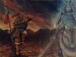 Gaheris and Shinjo meet at the Black Earth