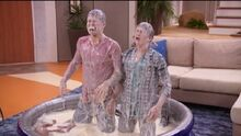 Chase and Adam drenched in expired milk