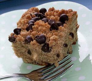 Chocolate and Peanut Butter Struessel Cake