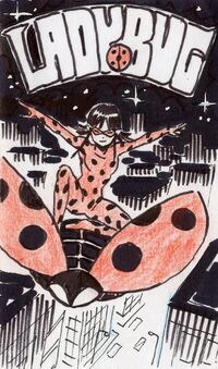 First drawing of Ladybug by Thomas Astruc