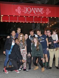 4-1-14 Outside at Joanne Trattoria Restaurant in NYC 001