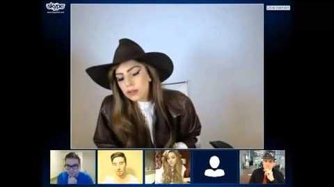Lady Gaga Skype Video Chat