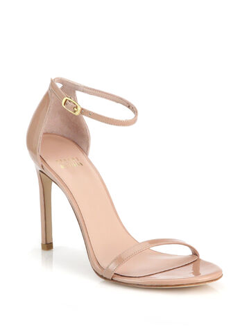 File:Stuart Weitzman - Nudist patent leather beige sandal.jpeg