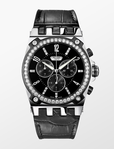 File:Maranello V8 Lady Diamonds Chronograph in black.jpg