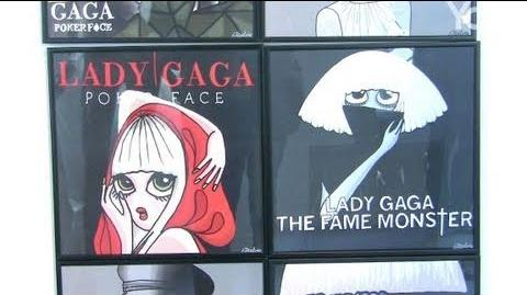 Lady Gaga expo at Galerie Chappe in Paris