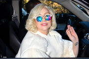 11-18-13 Leaving her apartment in NYC 002
