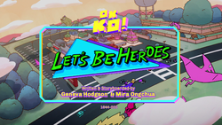 Lets Be Heroes Titlecard