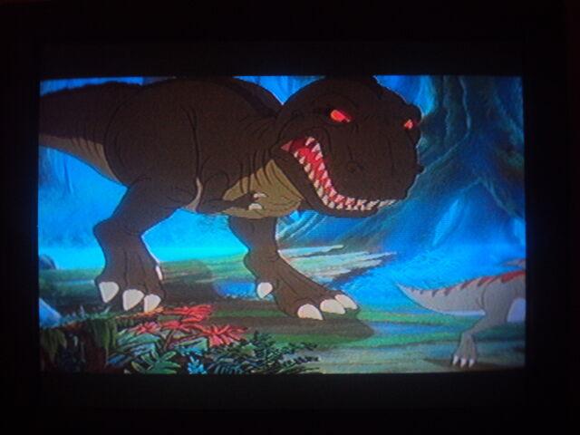 File:Tyrannosaurus Rex made a brief cameo.JPG