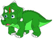 Sparky the green Triceratops
