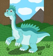 Zippo the young Therizinosaurus