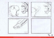 The Land Before Time 1988 Production Storyboard Copy Page 7 DON BLUTH -SH007