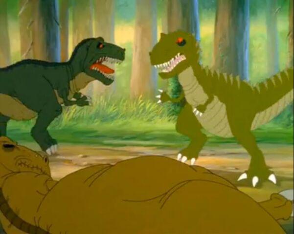 File:T-rex vs. Giganotosaurus.jpg