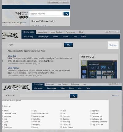 Wikia advanced search demo