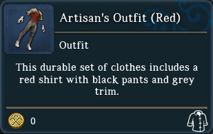 Artisans Outfit Red examine