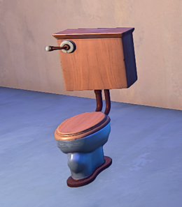Toilet prop placed
