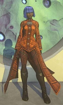 Colonists-elegant-robe-orange