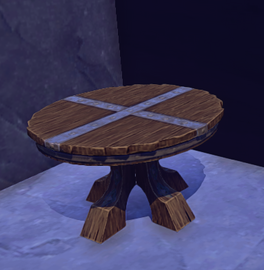 Small Wooden Table prop placed