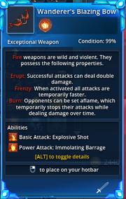 Wanderers-Blazing-Bow-Info