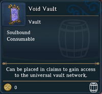 Landmark Void Vault examine window