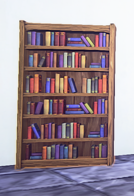 Secret Door Bookcase prop placed